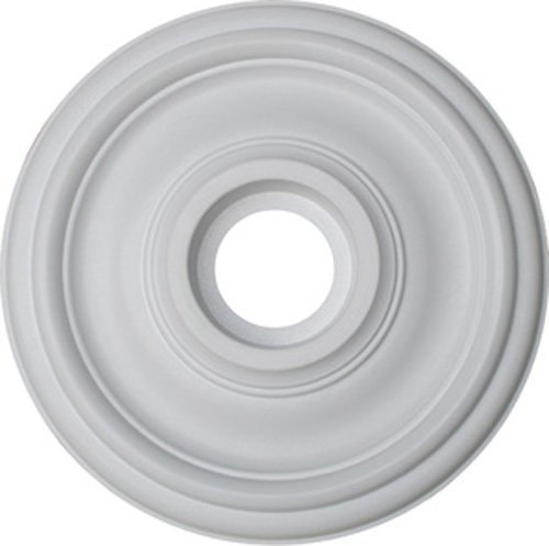 Medallón de techo Plano, 47 cm de diámetro, estilo contemporáneo/pintable para decoración del hogar