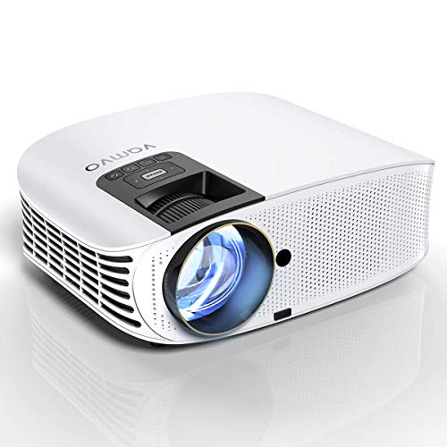 Video Projector, Outdoor Movie Projector with 200' Projection Size, vamvo Home Theater Projector, Support 1080P, Compatible with iPhone, Android, Fire TV Stick, PS4, HDMI, VGA, AV and USB 3600W
