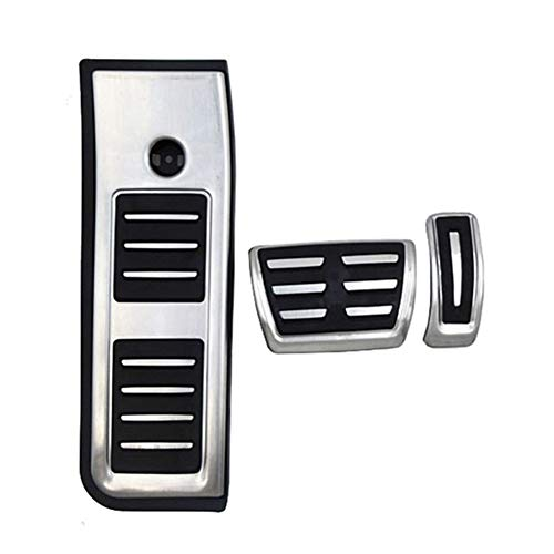 ZHANGJIN For Audi A6 Nuevo Tipo C8 4K AB 2019 2020 Combustible Freno de pie Descanso en Pedales Placa del Pedal del Acelerador Pastillas de Freno Pegatinas Styling (Color Name : Pedal 3PCS)