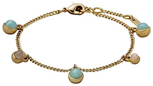 Pilgrim Damen-Armband Vergoldet mattiert Glas Mehrfarbig Rundschliff 19.50 cm - 141722402