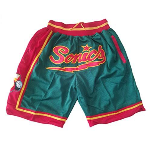 FENGCLG Basketball-Shorts Herren Big-Tall Cool Hidden Erweiterbare Taille Plain Short