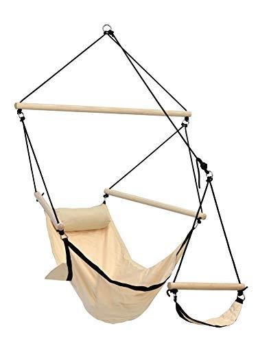 AMAZONAS hangstoel Swinger Sand met voetsteun van rugzakstof bijzonder stabiel en weerbestendig tot 120 kg