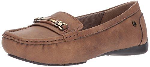 LifeStride Women's Vanity Slip-On Loafer, tan, 8 M US