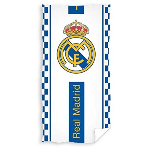 Toalla de Playa Modelo Real Madrid 70 x 140 cm, 100% algodón.