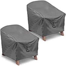Vailge Patio Adirondack Chair Covers, Heavy Duty Patio Chair Cover, Waterproof Outdoor Lawn Patio Furniture Covers (Standard - 2 Pack, Grey)