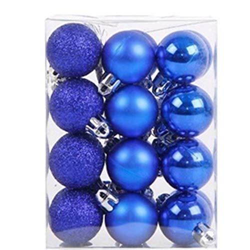 Albero di Natale Ball - 3 centimetri 24Pcs / Lot alta di Natale Albero di Natale bauble Hanging partito della casa di Ornament Decor Albero di Natale decorazioni for l'albero Artigianato Palline di Or