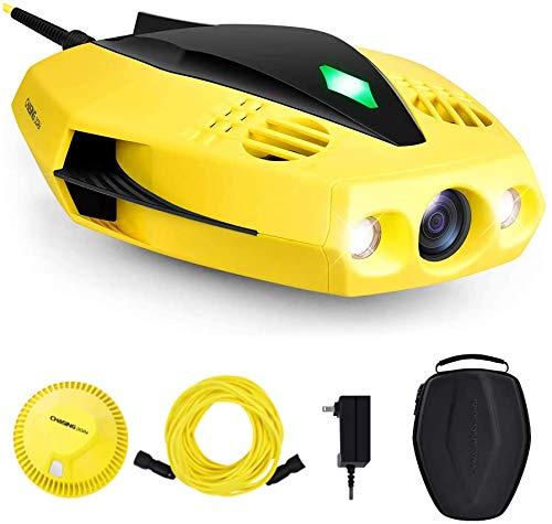 CHASING DORY 水中ドローン 水中撮影 1080p高解像度 F/1.6レンズ カメラ 重量1.1KG 小型 携帯性 最大水深15m 防水性 耐海水 スラスター5つ 仰俯角45度 スピード1.5ノット(0.77 m/s) 深度ロック 専用アプリ 2人プレイモード Wi-Fiブイ 通信距離15m テザーケーブル15m 4800mAh大容量バッテリー LEDライト フィッシング ダイビング マリンレジャー サーフィン 釣り リアルタイムの観察 ライブ中継機能 プレゼント 初心者向け