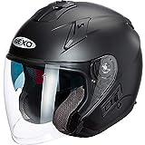 Nexo Jethelm Motorradhelm Helm Motorrad Mopedhelm Jethelm Comfort mattschwarz L, Unisex,...