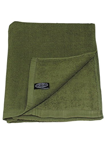 Toalla de mano, color verde oliva, 110 x 50 cm