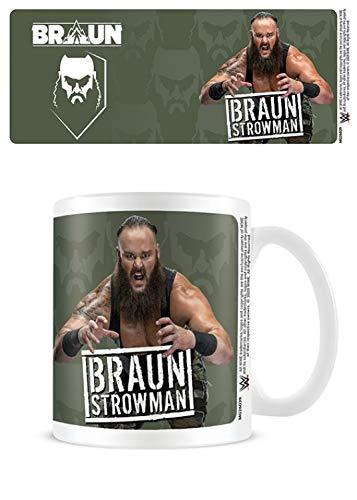 1art1 Lucha Libre, WWE Braun Strowman - Hands Taza Foto (9x8 cm) Y 1x Taza Sorpresa