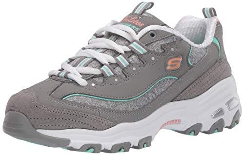 Skechers Women's Athleisure Sneaker, Grey/Mint,9 M US