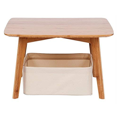 Small Coffee Table Square Tatami Table with a Storage...