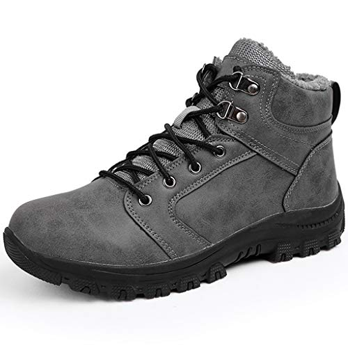 Zphy Men Lightweight High Outdoor Boots Trekking Walking Shoes Non-Slip Wearable for All Season Walking Travelling Backpacking Camping Trekking Biking Christmas Best Gift (Color : Gray, Size : 39)