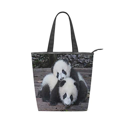Cute Animal Panda Leisure Fashion Canvas Handbag for...