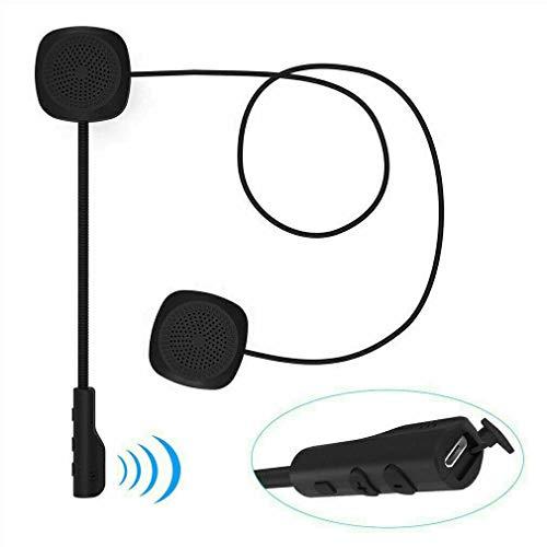 Motorcycle Helmet Headset, SUNWAN - Wireless Bluetooth 5.0 Intercom Headphone, Rechargeable Handsfree Speakers with Microphone