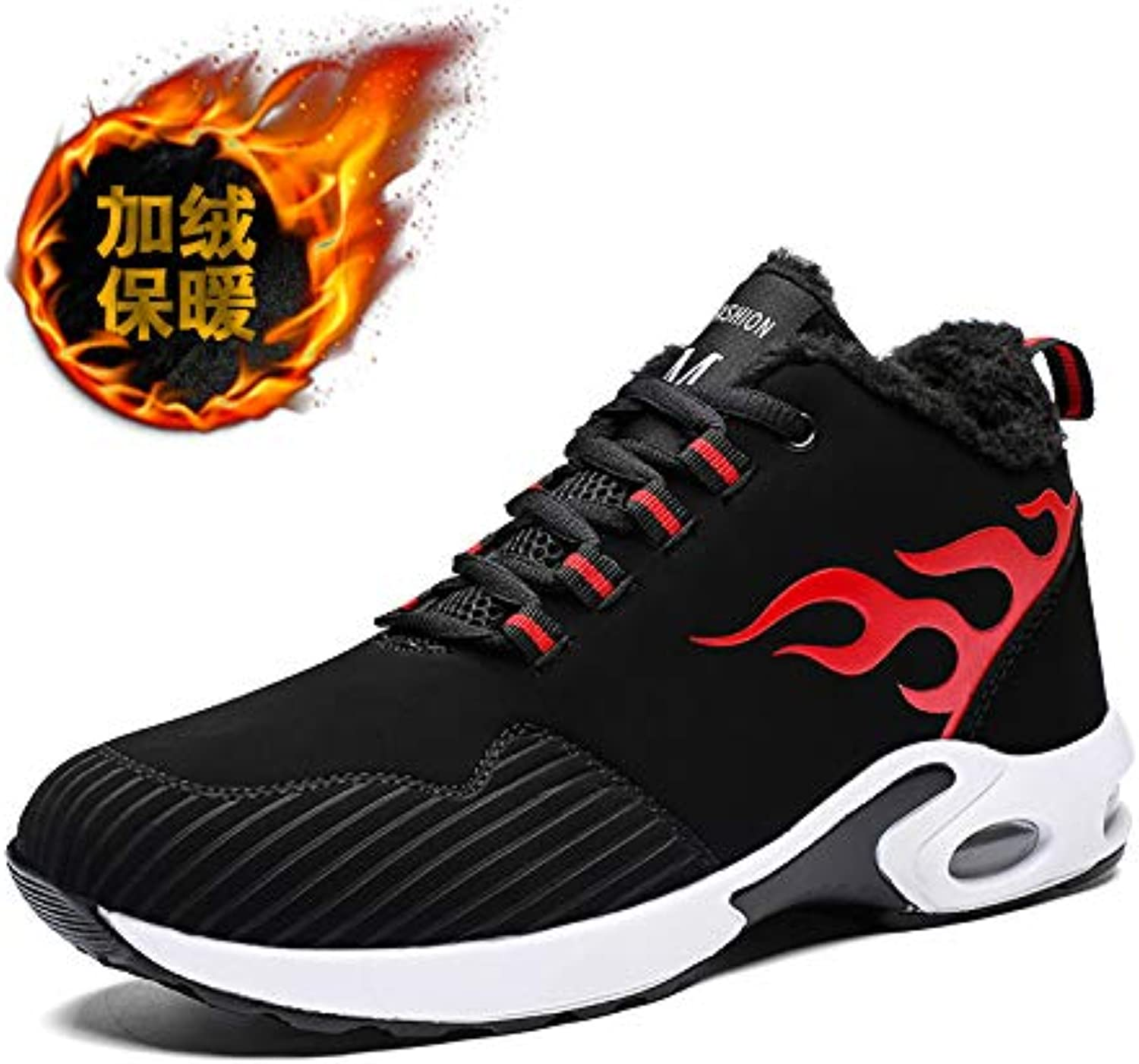 LOVDRAM Men'S shoes Autumn And Winter Men And Women Couple shoes Running shoes Student Fashion Men'S Casual Sports Thick Warm Cotton shoes