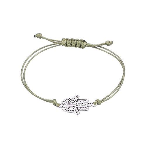 JZHJJ eenvoudige en stijlvolle klassieke paar Armband Vriendschap Armband Set Vrouwelijke Originele 4 Stuk Blad Vrede Teken Turkoois Wax Touw Hand-Gebreide Ketting Inclusief: Armband, Armbanden Vrouwen