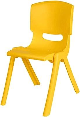 YAYYZ Children's Chair backrest, Baby Bench, Kindergarten Chair, Plastic Stool, Household/Slip/Stability (Color : Yellow)