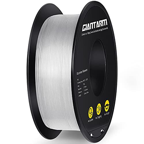 Filamento PLA 1,75 mm, GIANTARM Stampante 3D PLA Filamento 1 kg Spool (Trasparente)