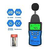 Fonometro Digitale, HoldPeak 30~130 dBA/dBC Misuratore di Livello Sonoro con Retroilluminazione LCD HP-882A, Hold Massimo,Regolazione Della Sensibilità e Interruttore dBA/C,Batteria 9V