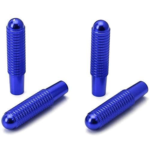 OYWNF 4 Piezas de Aluminio Azul del Perno-sobre Reemplazar Cerradura de Puerta Mandos compatibles (Color : Blue)