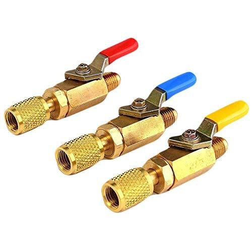 YIONGA CAIJINJIN Válvula Refrigeración del Coche 1 / Botella 4Inch Auto A C Puede Tocar en la válvula/Abridor for R134A R410A Gas refrigerante de Aire