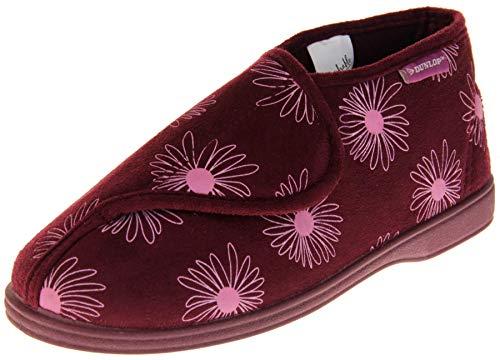 Dunlop Mujer Rojo Flor Zapatillas De Toque de Fijación Ortopédica EU 39