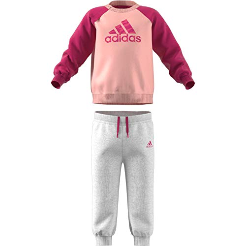 adidas Baby Logo Jogger Fleece Trainingsanzug, Haze Coral Magenta/Real Pink, 68