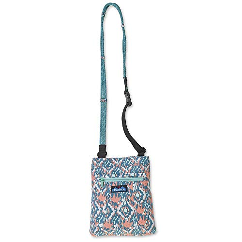 KAVU Keepalong Semi Padded Sling Canvas Rope Crossbody Bag - Beach Paint
