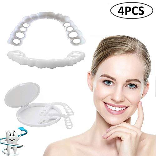 Zahnprothese Kosmetische Zähne, Provisorischer Zahnersatz für Zahnprothesen, kosmetische Zähne, zum Aufstecken, perfektes Lächeln, Bequeme Passform, flexibel