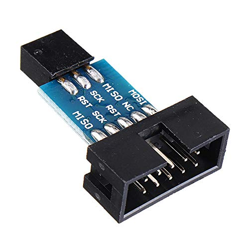 Ywzhushengmaoyi 10 Pin to 6 Pin Adapter Board Converter Module For AVRISP MKII USBASP STK500 for Arduino - products that work with official Arduino boards 10pcs Electronics Module Parts