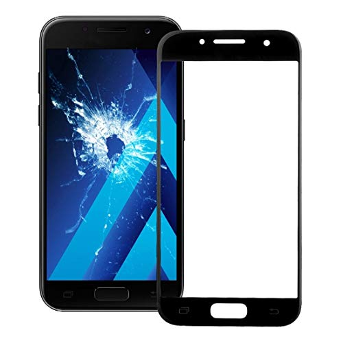HUAAT -Front Screen Outer Glass Lens for Galaxy A7 (2017) / A720 (Black) DIY (Color : Black)