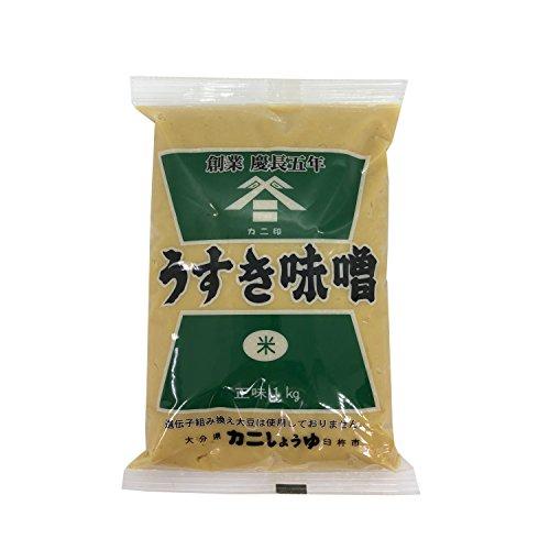 カニしょうゆ カニ印 うすき味噌 米みそ つぶなし 1kg