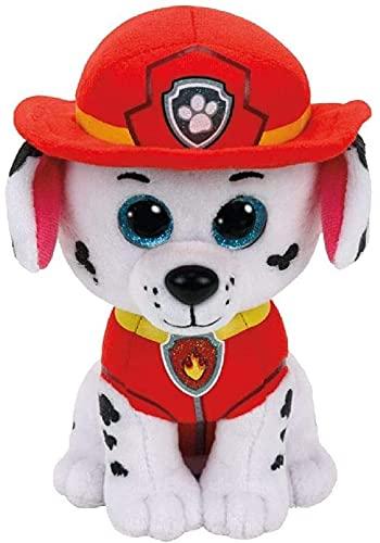 Miniatures World TY Beanie Boo's – Peluche Pad de la Patrulla Canina TY Marshall con ojos brillantes