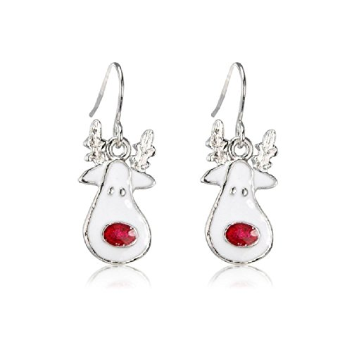 Juicy Jewellery Fancy Dress Sterling Silver Christmas Pierced Earrings Rudolph Red Nosed Reindeer