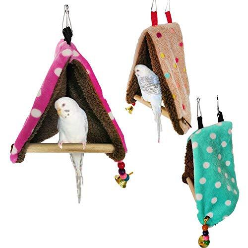 ZANGAO Petit Perroquet Birdhouse hamac balançoire nid Chaud Coton Oiseaux Jouet Confortable Respirant de Haute qualité Portable léger Facile à Nettoyer (Color : Multi-Colored)