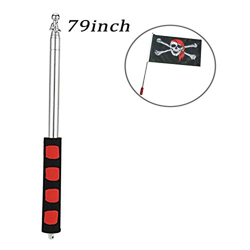 godehone Telescoping Flagpole,Stainless Steel Banner Tour Guide Teachers Flag Sign