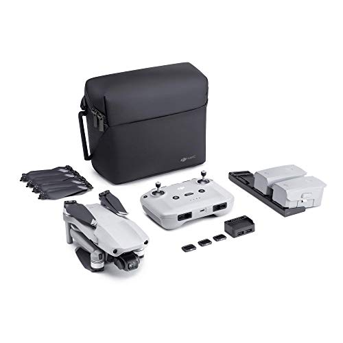 "NEW DJI Mavic Air 2 Fly More Combo - Drone Quadcopter UAV with 48MP Camera 4K Video 1/2"" CMOS Sensor 3-Axis Gimbal 34min Flight Time ActiveTrack 3.0, Grey (Renewed)"