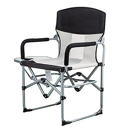Silla Plegable portátil para Acampar al Aire Libre, sillón de Director con Mesa Auxiliar para Picnic, Senderismo, Taburete de Pesca con Respaldo
