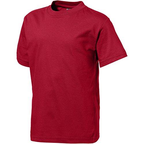 Slazenger Childrens/Kinder Kurzarm T-Shirt (H140cm) (Dunkel Rot)