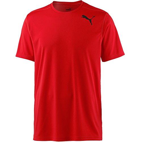 PUMA Uomo Essential SS Tee Shirt, Uomo, 515185 23, Scarlatto Llama, L
