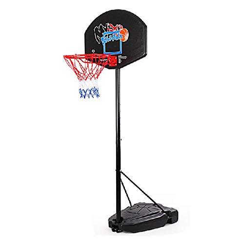 SUON Soporte De Baloncesto Altura Ajustable 165-305cm Puede Levantar Niños Adultos Marco De Tiro Interior, En Exteriores Canasta Aro De Baloncesto