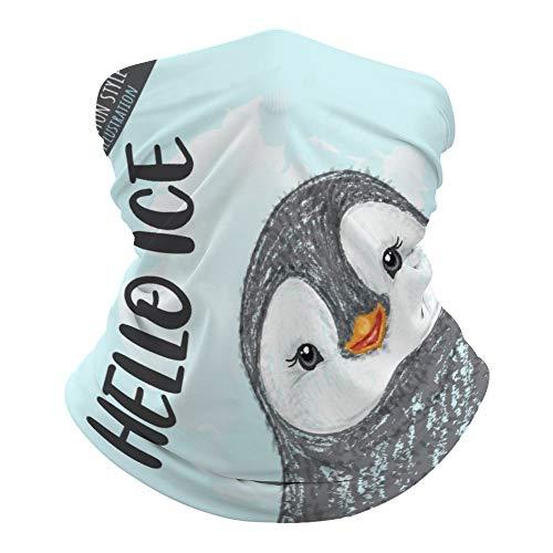 Hello Ice Lrt3qkyrnd7k Cache-cou polyvalent Motif pingouin Imprimé magique hippie Protection contre la poussière 50 x 25 cm