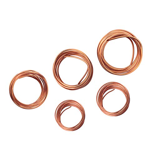 Fatpig Bonsai Wire Set,Copper Bonsai Training Wire for Bonsai Tree Kit 1.0mm,1.5mm,2.0mm,2.5mm, 3.0mm (Bronze)