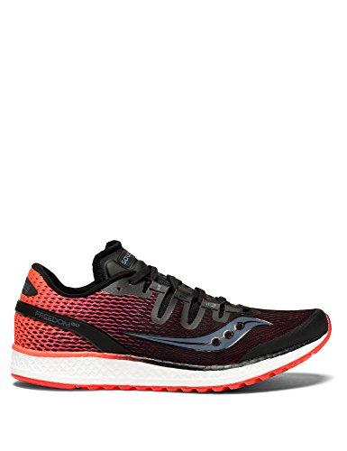 Saucony Freedom ISO, Zapatillas de Deporte para Mujer, Negro (Blk/Viz Red 7), 37.5 EU
