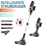 ORFELD Cordless Vacuum Cleaner, Cordless Vacuum Cleaner with Intelligent Suction Setting, 4 in 1 Handheld Vacuum Cleaner, 22000Pa Strong Suction Power, Up to 50 Min Run Time, 100,000 U / min Digital Motor, Gray