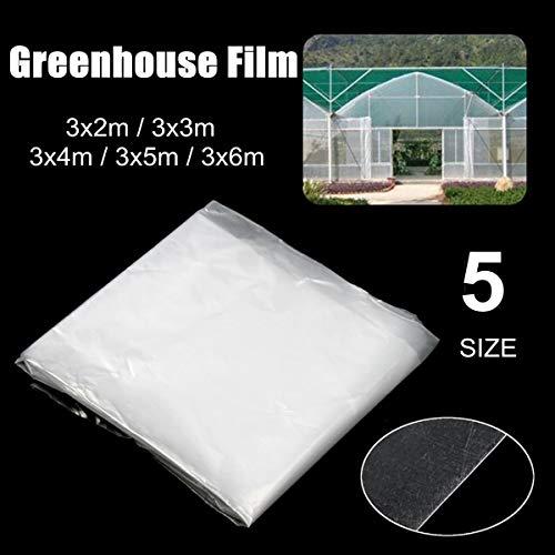 Nologo Qiyuezhuangshi01 5 Superficie Agricola Serre PE Film Reinforced Heavy Duty stabilizzato ai Raggi UV Giardino delle Piante termorestringenti Spessore 0,14 Millimetri (Taglia : 3X5M)