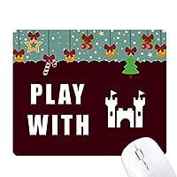 キャッスルマジック ゲーム用スライドゴムのマウスパッドクリスマス