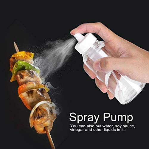 Gneric Sproeiers Olive Spray Pump Barbecue Oil spuitbus Saus azijnfles BBQ Can Pot Cookware Keuken Tool (Kleur: Oranje + Transparant) lili (Color : Orange+transparent)