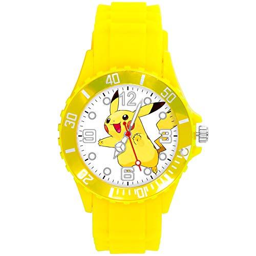 Quarz-Armbanduhr, Gelbes Silikonband für gelbe Plüsch-Fans
